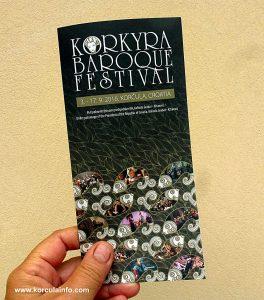 Brochure of Korkyra Baroque festival 2016
