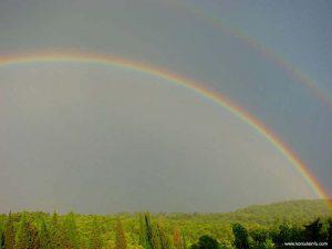 Rainbow over Korcula forest (2006)