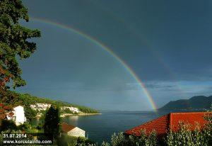 Rainbow in Sveti Nikola, Korcula (July 2014)