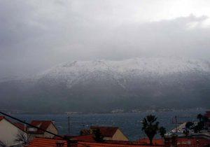 Snow in Korcula and Peljesac (2012)