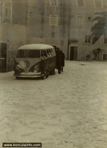 Snow in Korcula - with VW T1 Split Screen Bus (1963)