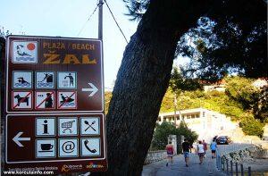 Beach Zal Sign