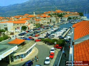 Parked Cars on East Side of Korcula Town (2016)