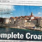 Korcula Photo in Sunday Times