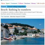 Korcula's Beach Banje featured in Guardian