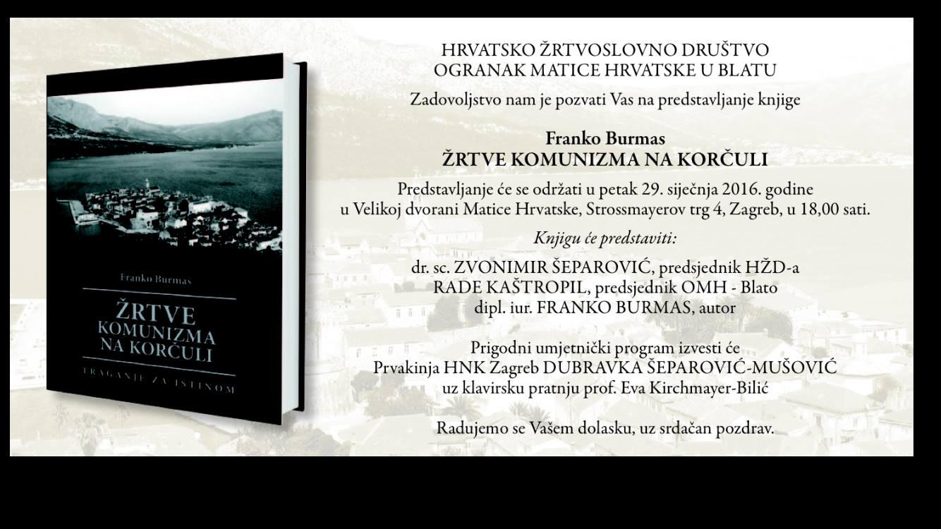 Zrtve Komunizma Korcula by Franko Burmas (2016)