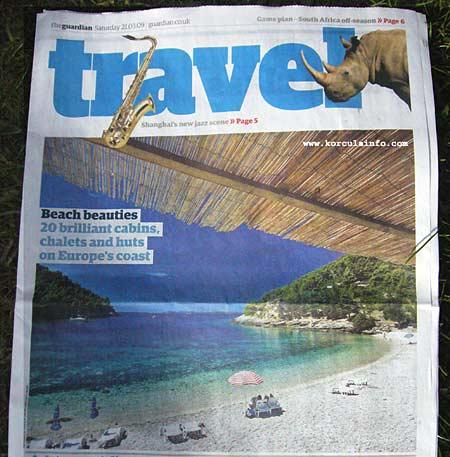 Beach Pupnatska Luka in the Guardian