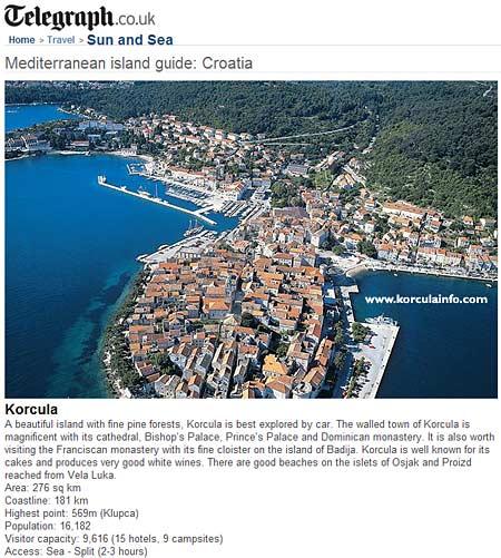 Korcula - Mediterranean island guide - Telegraph