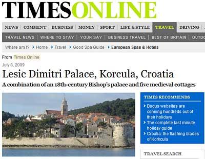 korcula in times online