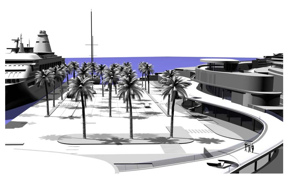 The main square of the future ferry terminal