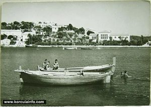 Fishing boats in Lumbarda in 1950s