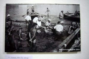 Fishing net in Lumbarda in 1930s