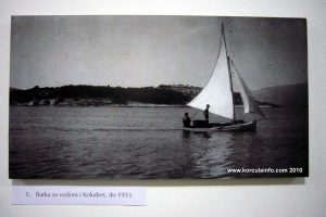 Sailing boat in Lumbarda, 1937