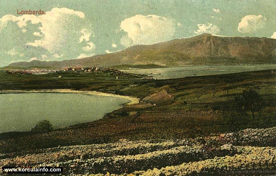 Vela Przina Beach and vineyards in 1918