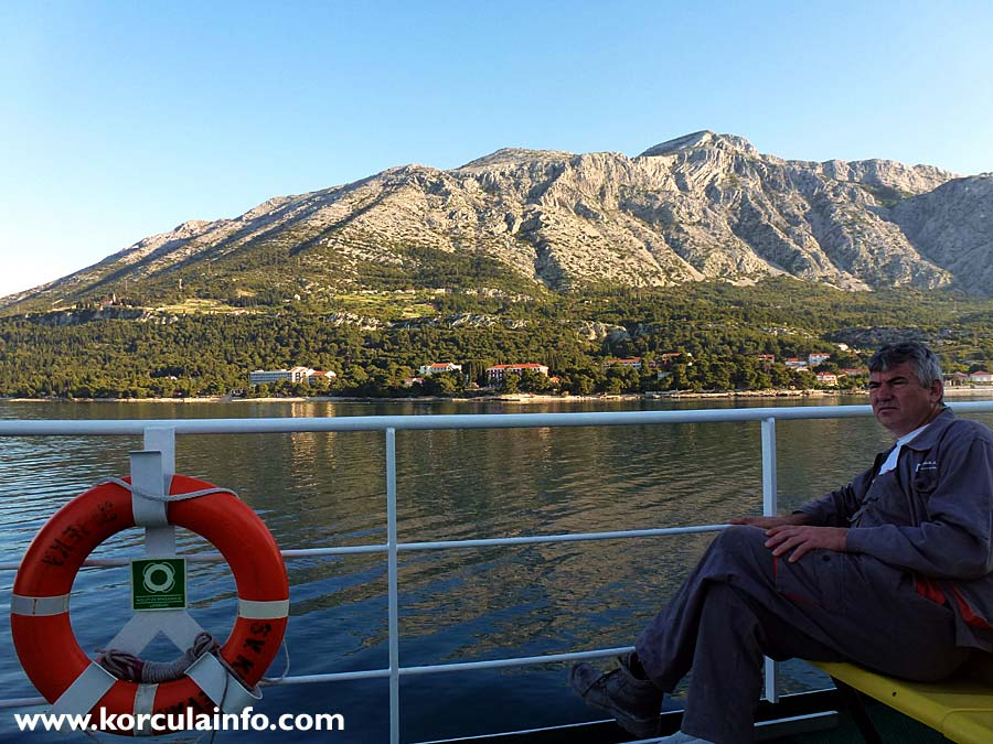 Morning departure from Korcula by local ferry to Orebic: