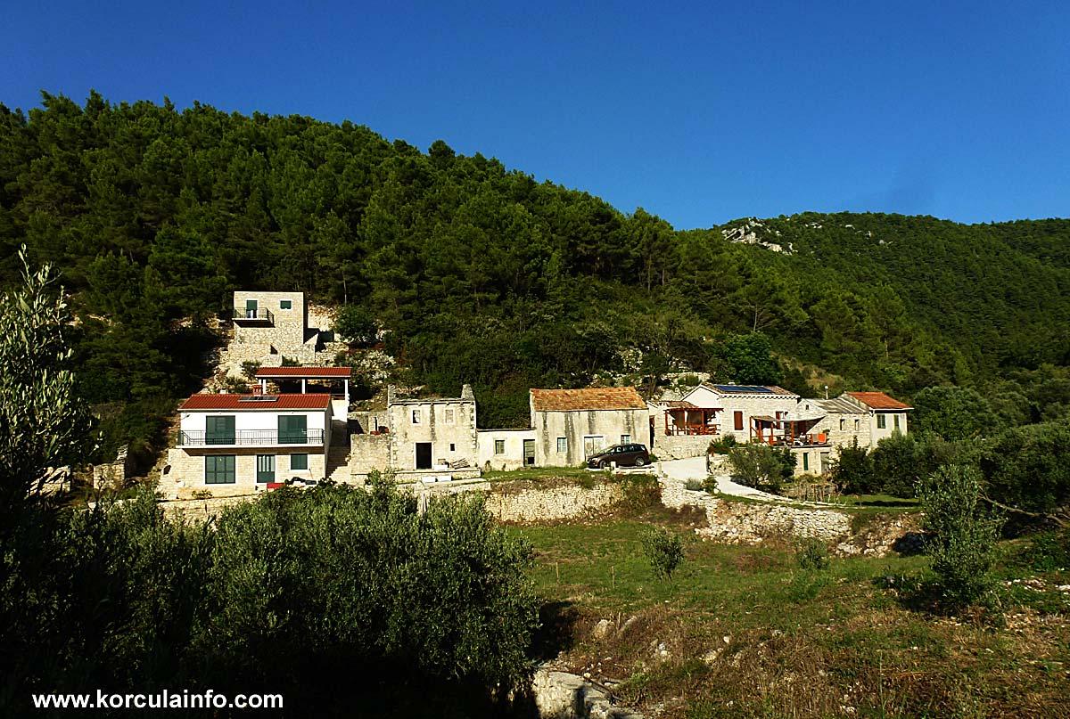 Row of houses in Babina