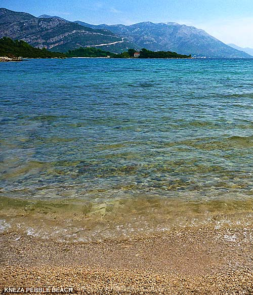 Small Pebble Beach in Kneze Bay