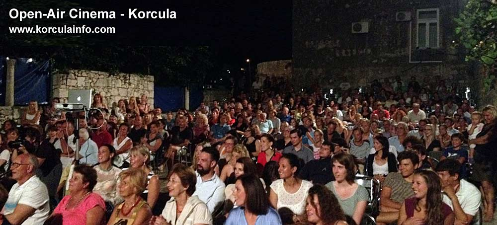 Open–air Cinema in Korcula aka Ljetno Kino