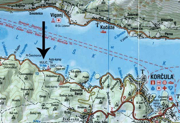 Map of Tri Zala