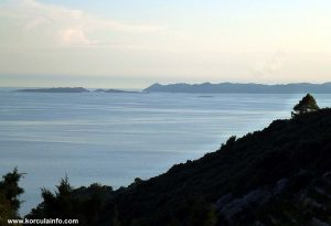 Views from Zaglav over Lastovo archipelago