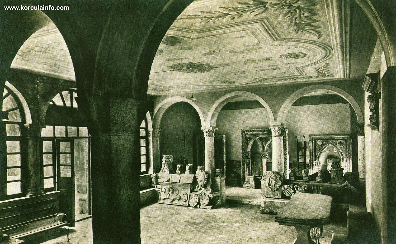 Atrium of Governors Palace Gradska vijecnica aka Korcula Town Hall