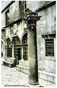 Facade of Governors Palace Gradska vijecnica aka Korcula Town Hall
