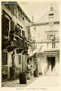 Arneri Palace Courtyard, Korcula (print from 1908)