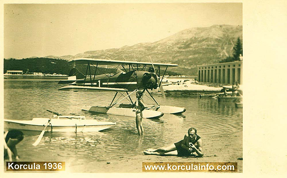 Hydroplane @ Korcula Beach in 1936
