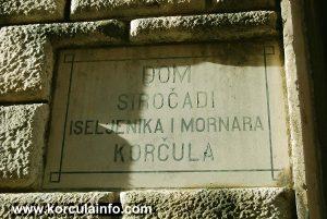 Plaque @ Ismaelli Palace - Dom sirocadi, iseljenika i mornara, Korcula