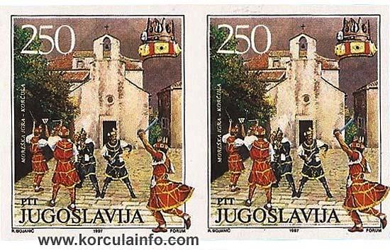 Image of Moreska on vintage stamp from 1987