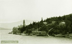Sveti Nikola Church viewed from Strecica bay (1938)