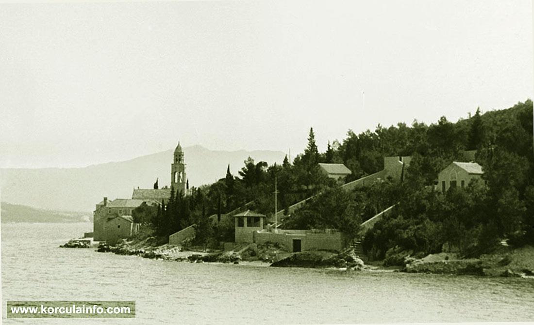 Sveti Nikola Church viewed from Strecica bay (1938)