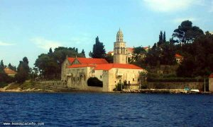 Sveti NIkola Church viewed from a boat