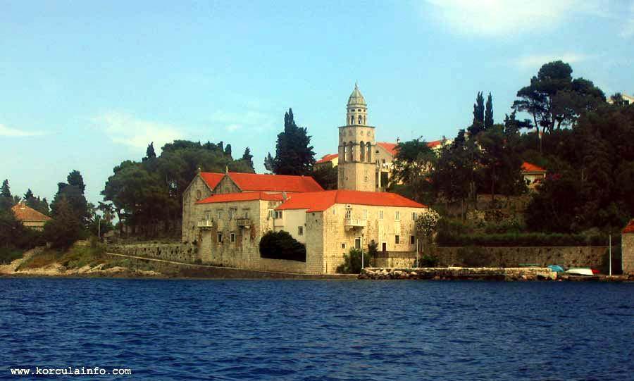 Sveti NIkola Church viewed from a boat