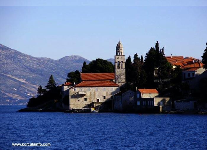 Sveti NIkola Church viewed from Strecica Bay