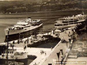 Three ferries in Korcula (1970s)
