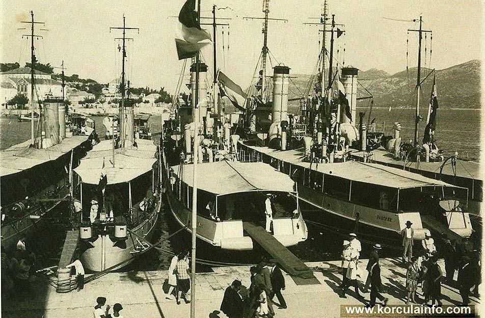 Ferries in Korcula in 1920s
