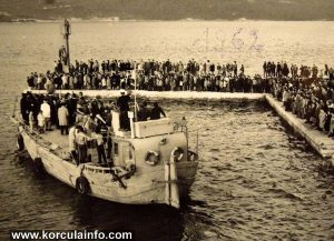 Ferry leaving Korcula 1962