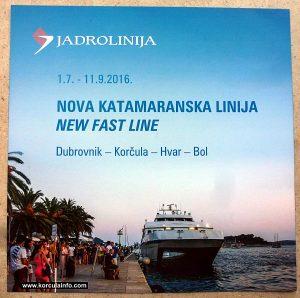 Catamaran Dubrovnik-Korcula-Hvar-Bol (Brochure 2016)