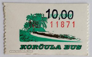 Bus Ticket Korcula (2002)