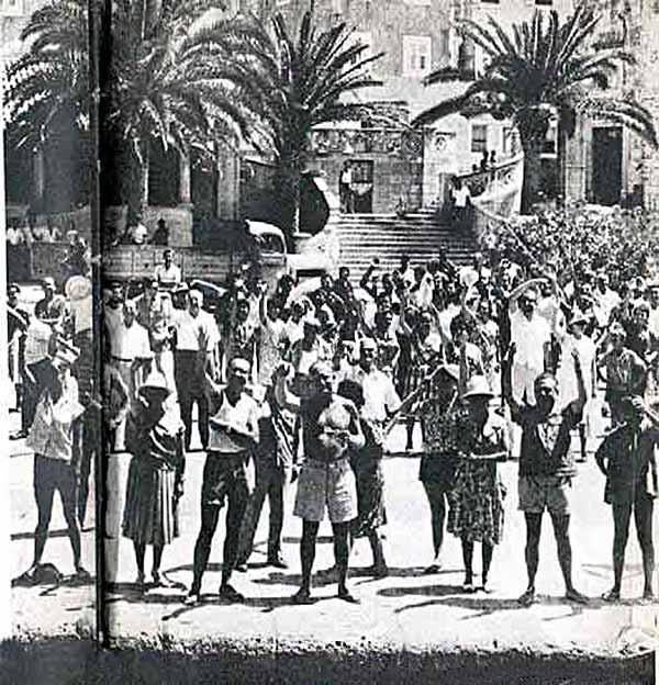 Riva in Korcula in 1950's