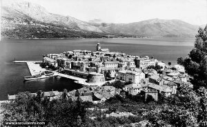 Ferry at Riva, Korcula (1950s)