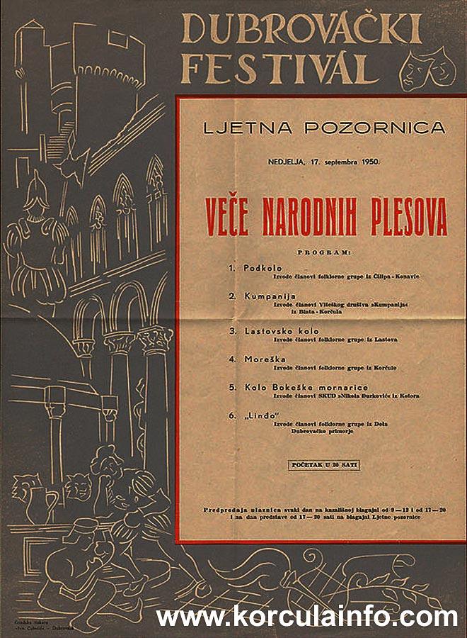 Moreska poster Dubrovacke Ljetne Igre 1951