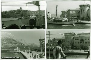 Arrival in Korcula by ferry in 1960s
