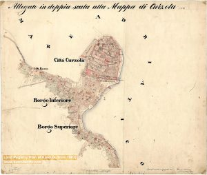 Land Registry Plan of Korcula from 1863