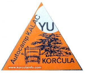 Autocamp Kalac, Korcula - Sticker (1960s)