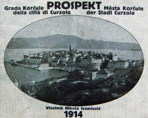 Brochure of Korcula town from 1914