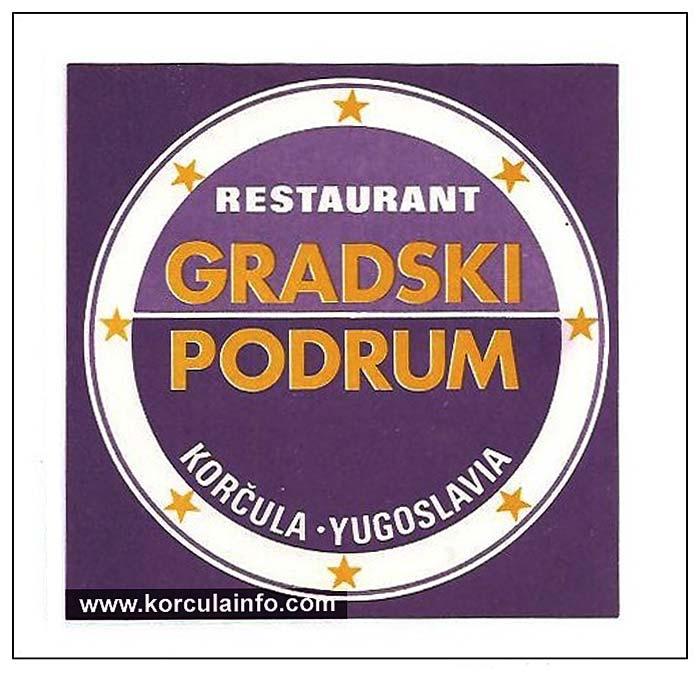 Restaurant Gradski Podrum Label