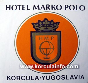 Hotel Marko Polo Luggage Label from 1970s