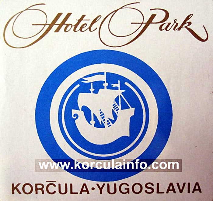 Hotel Park Luggage Label from 1970s